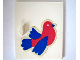 Part No: 838pb09  Name: Homemaker Cupboard Door 4 x 4 with Blue and Red Bird Pattern (Sticker) - Set 292