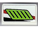 Part No: 85984pb022R  Name: Slope 30 1 x 2 x 2/3 with Lime Air Intake Pattern Model Right (Sticker) - Set 8899
