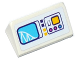 Part No: 85984pb148  Name: Slope 30 1 x 2 x 2/3 with Roller Coaster on Screen, Switch and Buttons Pattern (Sticker) - Set 41130