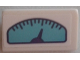 Part No: 85984pb172  Name: Slope 30 1 x 2 x 2/3 with Azure Gauge Pattern (Sticker) - Set 41310