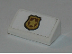Part No: 85984pb235  Name: Slope 30 1 x 2 x 2/3 with Police Badge Pattern (Sticker) - Set 60142