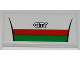 Part No: 87079pb0113  Name: Tile 2 x 4 with Red and Green Stripes and 'CITY' Pattern (Sticker) - Set 60016