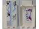 Part No: 87421pb029  Name: Panel 3 x 3 x 6 Corner Wall without Bottom Indentations with Snowflakes on Outside and Scarf and Gloves on Inside Pattern (Stickers) - Set 41062
