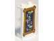 Part No: 87544pb058  Name: Panel 1 x 2 x 3 with Side Supports - Hollow Studs with Chalk Board with Wooden Border and Drinks Menu Pattern