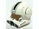 Part No: 87557pb01  Name: Minifigure, Headgear Helmet SW Clone Pilot with Open Visor and Black Markings Pattern
