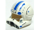 Part No: 87557pb02  Name: Minifigure, Headgear Helmet SW Clone Pilot with Open Visor and Blue Markings Pattern