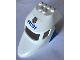 Part No: 87613pb014  Name: Aircraft Fuselage Curved Forward 6 x 10 with 3 Window Panes with 'POLICE' and Badge on Top and Blue Triangle Pattern on Both Sides (Stickers) - Set 60138