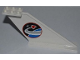 Part No: 87614pb003  Name: Tail 12 x 2 x 5 with Space Center Logo Pattern on Both Sides (Stickers) - Set 3367