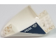 Part No: 87616pb009  Name: Aircraft Fuselage Curved Aft Section 6 x 10 Bottom with White 'POLICE' and Silver Badge with Wings Pattern on Both Sides (Stickers) - Set 60009
