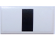 Part No: 88930pb062  Name: Slope, Curved 2 x 4 x 2/3 with Bottom Tubes with Thick Black Stripe on White Background Pattern (Sticker) - Set 75874