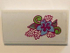 Part No: 88930pb068  Name: Slope, Curved 2 x 4 x 2/3 with Bottom Tubes with Bright Light Blue, Lime and Magenta Flower and Leaves Pattern (Sticker) - Set 41058