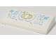 Part No: 88930pb100  Name: Slope, Curved 2 x 4 x 2/3 with Bottom Tubes with Gold Carriage and Stars and Medium Blue Vines Pattern (Sticker) - Set 41146
