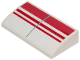 Part No: 88930pb109  Name: Slope, Curved 2 x 4 x 2/3 with Bottom Tubes with 3 Red Stripes Pattern (Sticker) - Set 75249