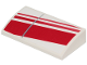 Part No: 88930pb110R  Name: Slope, Curved 2 x 4 x 2/3 with Bottom Tubes with 3 Diagonal Red Stripes Pattern Model Right Side (Sticker) - Set 75249