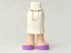 Part No: 92249c00pb02  Name: Mini Doll Friends Hips and Long Skirt, Light Flesh Legs and Medium Lavender Shoes Pattern