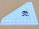 Part No: 92584pb001L  Name: Wedge, Plate 10 x 10 Cut Corner with no Studs in Center with Space Center Logo and 'JM 3367' Pattern Model Left Side (Sticker) - Set 3367