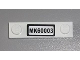 Part No: 92593pb011  Name: Plate, Modified 1 x 4 with 2 Studs with 'MK60003' License Plate Pattern (Sticker) - Set 60003