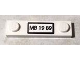 Part No: 92593pb023  Name: Plate, Modified 1 x 4 with 2 Studs with 'MB 19 89' License Plate Pattern (Sticker) - Set 76004