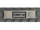 Part No: 92593pb037  Name: Plate, Modified 1 x 4 with 2 Studs without Groove with 'CS60138' License Plate Pattern (Sticker) - Set 60138