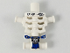 Part No: 93060pb06  Name: Torso Skeleton, Angular Rib Cage with Repaired Holes and Cracks and Blue Loincloth Pattern