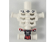 Part No: 93060pb07  Name: Torso Skeleton, Angular Rib Cage with Repaired Holes and Cracks and Red Loincloth Pattern