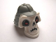 Part No: 93065pb01  Name: Minifigure, Head Modified Skull with Gray Helmet Pattern