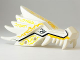 Part No: 93070pb06  Name: Dragon Head (Ninjago) Upper Jaw with Yellow Lightning Spirit Pattern