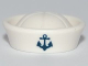 Part No: 93557pb01  Name: Minifigure, Headgear Hat, Sailor with Anchor Pattern