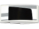 Part No: 93606pb037R  Name: Slope, Curved 4 x 2 No Studs with Light Bluish Gray Stripes and Half Black Rear Window Pattern Model Right Side (Sticker) - Set 75912
