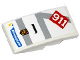 Part No: 93606pb040  Name: Slope, Curved 4 x 2 with Michelin Logo, Porsche Marque, Light Bluish Gray Stripes, '911' and Air Intake Pattern (Sticker) - Set 75912