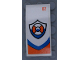 Part No: 93606pb106  Name: Slope, Curved 4 x 2 with Coast Guard Logo and Number '02' Pattern on White Background (Sticker) - Set 60164