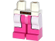 Part No: 970c47pb01  Name: Hips and Dark Pink Legs with White Lab Coat and Brown Belt Pattern
