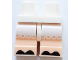Part No: 970cm01pb001  Name: Hips and Light Nougat Medium Legs with Black Hooves and White Frills Pattern