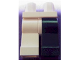 Part No: 970d06  Name: Minifigure, Legs with Hips - 1 Black Left Leg, 1 White Right Leg (Two-Face Alternate)
