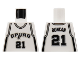 Part No: 973bpb134  Name: Torso NBA San Antonio Spurs #21 Pattern