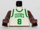Part No: 973bpb183c01  Name: Torso NBA Boston Celtics #8 (White Jersey) Pattern / Brown NBA Arms