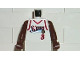 Part No: 973bpb184c01  Name: Torso NBA Philadelphia 76ers #3 (White Jersey) Pattern / Brown NBA Arms