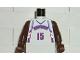Part No: 973bpb187c01  Name: Torso NBA Toronto Raptors #15 (White Uniform) Pattern / Brown NBA Arms