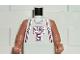 Part No: 973bpb282c01  Name: Torso NBA New Jersey Nets #5 (White Jersey) Pattern / Flesh NBA Arms
