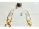 Part No: 973p09c01  Name: Torso Boat Anchor Logo Pattern / White Arms / Yellow Hands