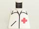 Part No: 973p24  Name: Torso Hospital Red Cross Shirt Pattern