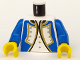 Part No: 973p3rc01  Name: Torso Pirate Imperial Soldier Officer Pattern (Blue) / Blue Arms / Yellow Hands