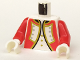 Part No: 973p3sc01  Name: Torso Pirate Imperial Guard Officer Pattern (Red) / Red Arms / White Hands