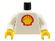 Part No: 973p60c01  Name: Torso Shell Logo Large Pattern / White Arms / Yellow Hands