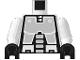 Part No: 973p63c02  Name: Torso Space Robot Pattern (Exploriens) / White Arms / Black Hands