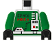 Part No: 973p69c01  Name: Torso Space Police with Radio Pattern / Green Arms / Black Hands