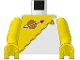 Part No: 973p6ec01  Name: Torso Space Futuron Yellow Pattern / Yellow Arms / Yellow Hands