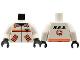 Part No: 973p8bc01  Name: Torso Res-Q Orange Stripes, Pockets, Back Logo Pattern / White Arms / Black Hands