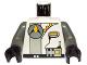 Part No: 973pb0004c01  Name: Torso Space Exploriens Logo with Radio Pattern / Dark Gray Arms / Black Hands