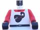Part No: 973pb0023c01  Name: Torso Racers Race Scorpion Red Pattern / Red Arms / Black Hands